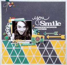 #papercraft #scrapbook #layout.  You Smile | Jillibean Soup by *Kristine* @2peasinabucket