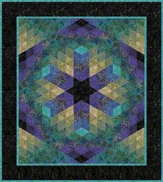 "RJR Jinny Beyer Batiks Lagoon Facets Quilt Kit 40.5"" by 45.5"""
