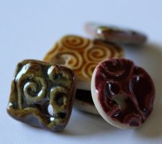 LOVE these glazed pottery beads!