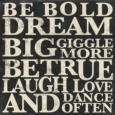 'Be Bold Dream Big' Wall Art