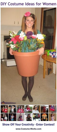 Flower Pot - a lot of DIY costume ideas!