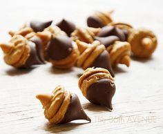 Chocolate Peanut Butter Acorns Recipe for Fall