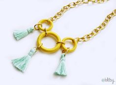 Create an amazing necklace with crochet supplies! #blitsy