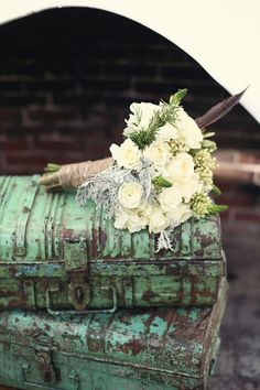 Old trunks & flowers! Wow!