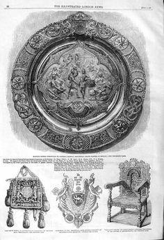 Antique Print 1862 Masonic Shield General Ramsay Privy Purse Shadwell | eBay