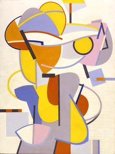 "Abstracted football player ""Gridiron""  Carl Holty 1943-4"