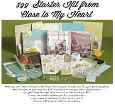 Spring/Summer 2014 Close to My Heart Starter Kit. Only $99 www.fancymelissa.com/join #ctmh #scrapbook #craft #consultant ctmh consult, goodi, consult kit, springsumm 2014, join, scrapbooking supplies, cricut, heart consult, close