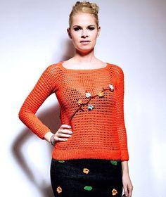 orang crochet, summer sweater