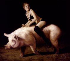 bryten goss, newer art, pigs, goss unseen, art junki, photographi, alex o'loughlin