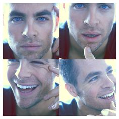 HOLY CRAP. Those eyes, lips, & smile...loord have mercy Chris Pine