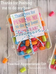 teacher gifts, teacher appreciation, gift idea, pushpin