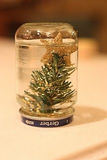 Homemade Snowglobe - Re-pinned by #PediaStaff. Visit ht.ly/63sNt for all our pediatric therapy pins