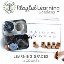 An eCourse that offers simple ways to create spaces in your home that that invite children to engage in reading, writing, science, art, and more.