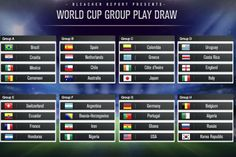 The 32 teams in the 2014 Fifa World Cup