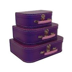 Cargo Cool Euro Suitcases, Purple, Set of 3,Price: $25.00