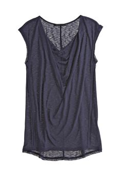 Sleeveless Cowl-Neck Tee