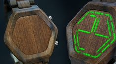 Kisai Night Vision Wood LED Watch