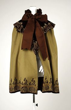 American wool, silk cape 1890's