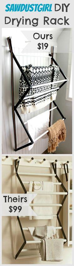 DIY Drying Rack from http://sawdustgirl.com