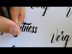Brush Pen Lettering No.2 - YouTube