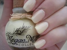 Megan Miller Collection - Lemon Ice. I don't usually go for white/yellow shades, but this actually looks quite purdy.