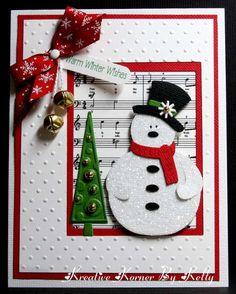 "Cute ""Warm Winter Wishes"" Snowman Card...Kelly-Kcs1955 - Scrapbook.com."
