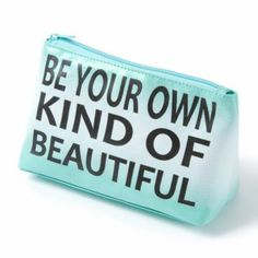 Ombre and Glitter Be Your Own Kind of Beautiful Cosmetic Bag