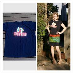dress refashion, fashion dresses, tshirt dress, recycled fashion, kingfisher