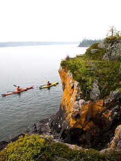 An island of North Woods activities Upper Peninsula, Michigan