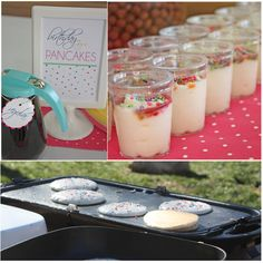 Kids birthday brunch pajama party complete with funfetti pancakes... what an awesome idea!