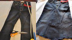 Tutorial: Jean Pants to Jean Skirt DIY  http://misfilimbianas.wordpress.com