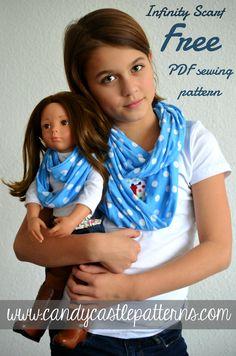 Free American Girl doll scarf pattern