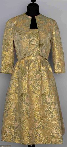 Green & Gold Brocade Cocktail Outfit, 1960s, Augusta Auctions, November 12, 2014