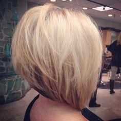 Hair by Ashley Goetz @ alexanders grand salon anaheim hills! A-line bob short hair blonde hair