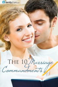 The 10 marriage commandments