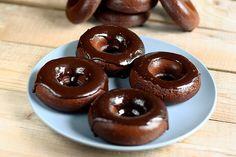 Gluten-Free + Diary-Free Chocolate Donuts from Tasty-Yummies.com