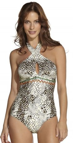 good print for camouflaging tummies - Ondade Swimsuit 2013