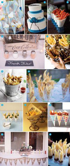 amaz event, futur idea, frenchfrybar, fri bar, carnival snack ideas, french fries, food bars, parti idea, french fry bar