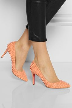 Christian Louboutin|Pigalle Spikes 85 leather pumps|NET-A-PORTER.COM