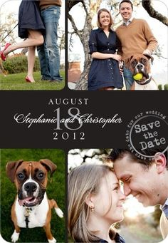 invit, montag, idea, save, dates, engag, magnet, dog, wedding papers