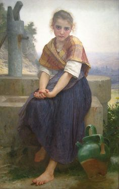 Bouguereau: The Broken Pitcher - I had  poster of this painting on my wall in college.