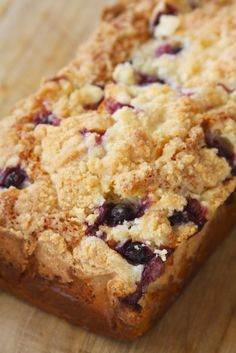 Blueberry Streusel Muffin Bread