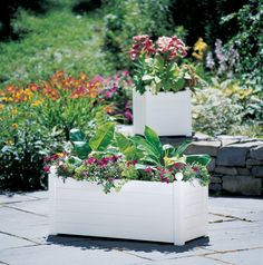 Self Watering Terrazza Trough Planters | Buy from Gardener's Supply