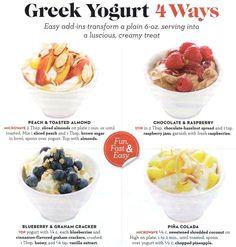 Greek Yogurt 4 Ways - Easy, Fast & Fun!