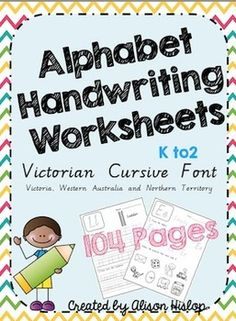 A-Z Handwriting Sheets - Victorian Cursive 104 Pages!