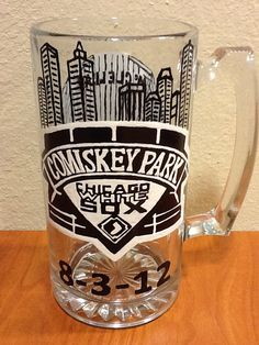 Hand Painted Chicago White Sox Beer Mug on Etsy, $34.95