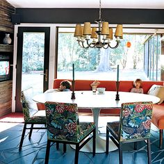 love the chairs dining rooms, dine room, kitchen tables, dragons, banquettes, dining chairs, barri benson, breakfast room, chinoiserie chic