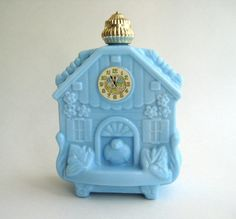 Vintage Avon Blue House Perfume Bottle by TheCredenza on Etsy