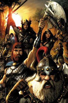 Dragonlance's Heroes of the Lance by *JPRart on deviantART