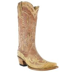 Corral Womens Crackle Distressed Western Boots